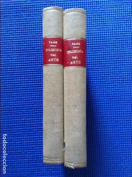FILOSOFIA DEL ARTE H TAINE 2 TOMOS (Libros Antiguos, Raros y Curiosos - Bellas artes, ocio y coleccionismo - Otros)