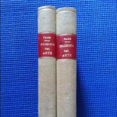 Libros antiguos: FILOSOFIA DEL ARTE H TAINE 2 TOMOS. Lote 91852235