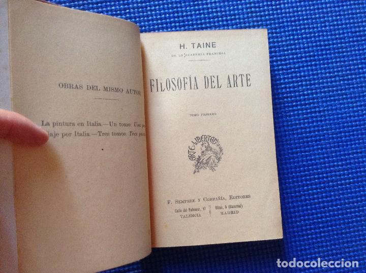 Libros antiguos: FILOSOFIA DEL ARTE H TAINE 2 TOMOS - Foto 3 - 91852235