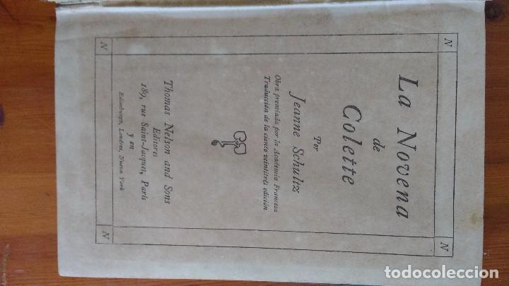 Libros antiguos: la novena de coleta 1912 Jeanne Schultz - Foto 2 - 91863935