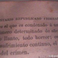 Libros antiguos: ANUARIO REPUBLICANO FEDERAL. CALVO REVILLA. CASTRO Y CIA,1870.. Lote 91987930
