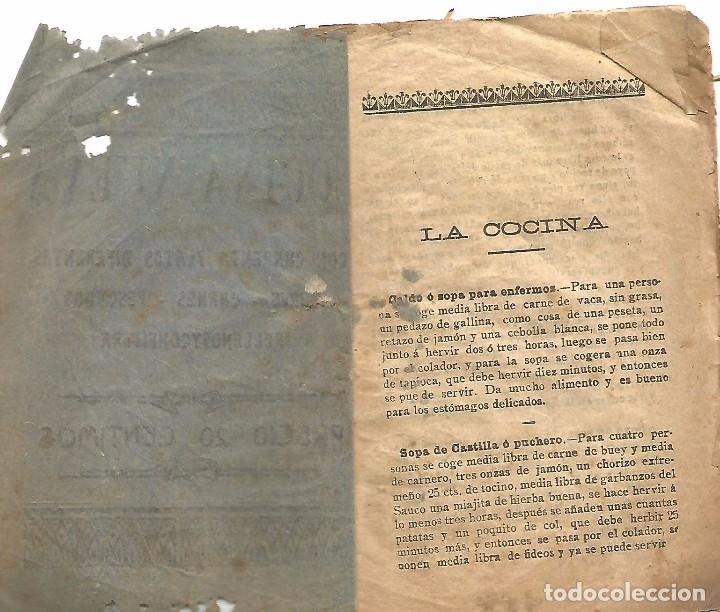 Libros antiguos: antiguo libreto antigua cocina nueva año 1910 20 pures carnes pescados rellenos y confitura papel - Foto 2 - 92208805
