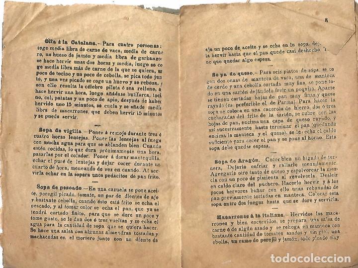 Libros antiguos: antiguo libreto antigua cocina nueva año 1910 20 pures carnes pescados rellenos y confitura papel - Foto 3 - 92208805