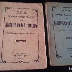 Libros antiguos: RESUMEN TEÓRICO PRACTICO DE HISTORIA DE LITERATURA 1- 2 - R P G - ZINCKE HERMANOS LA CORUÑA . Lote 92213425