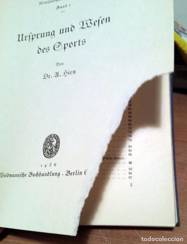 Libros antiguos: origen y el comienzo de los deportes - urfprung und befen des sports - Berlin 1936 - Foto 7 - 55310216