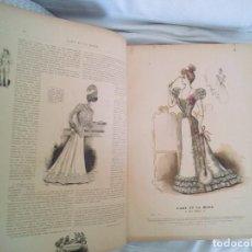 Libros antiguos: 1898 26 ENORMES LAMINAS COLORES CADA PAGINA TIENE MINIMO UN GRABADO +500 PGS FRANCÉS. Lote 92275760