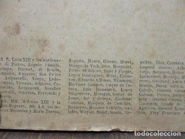 Libros antiguos: ALBUM DE NOTABLES - AÑO 1898 - Foto 5 - 92295125