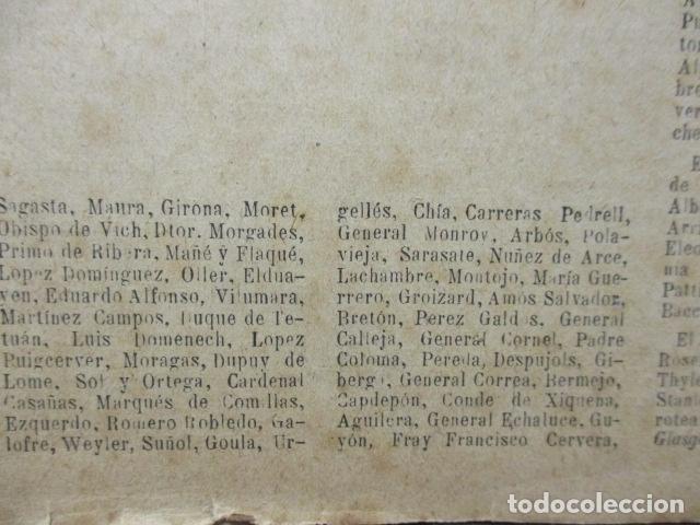 Libros antiguos: ALBUM DE NOTABLES - AÑO 1898 - Foto 6 - 92295125