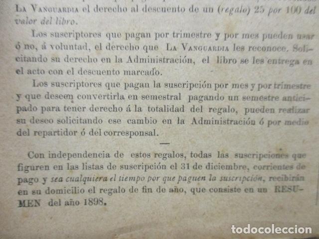 Libros antiguos: ALBUM DE NOTABLES - AÑO 1898 - Foto 10 - 92295125