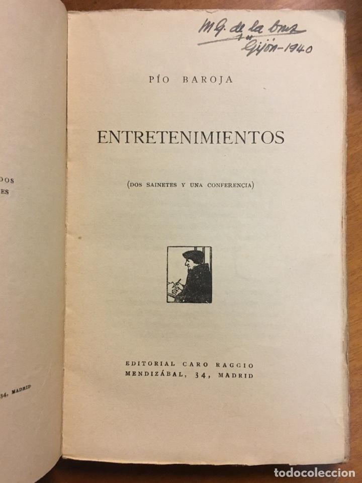 Libros antiguos: Entretenimientos - Pío Baroja - 1930 - Foto 3 - 92411133