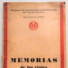 Libros antiguos: ESCUELA DE INGENIEROS INDUSTRIALES BCN, MEMORIAS DE LOS VIAJES DE PRÁCTICAS CURSO 1928-1929 - RARO. Lote 92416310