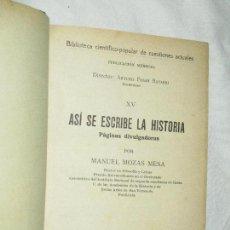 Libros antiguos: BIBLIOTECA DE CUESTIONES ACTUALES (TS, XV AL XXI)/ ENCUADERNACIÓN ARTESANAL · VILAMALA, 1934-35. Lote 92451815