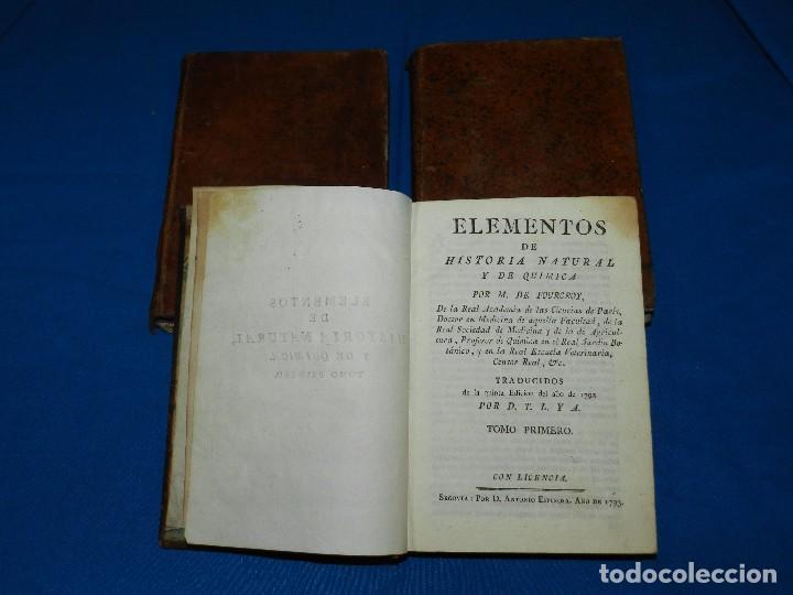 (MF) M DE FOURCROY - ELEMENTOS DE HISTORIA NATURAL Y DE QUIMICA , 3 TOMOS, SEGOVIA 1793 (Libros Antiguos, Raros y Curiosos - Ciencias, Manuales y Oficios - Otros)