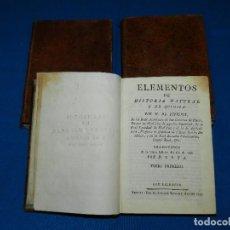 Libros antiguos - (MF) M DE FOURCROY - ELEMENTOS DE HISTORIA NATURAL Y DE QUIMICA , 3 TOMOS, SEGOVIA 1793 - 92819045