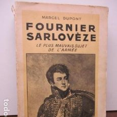 Libros antiguos: MARCEL DUPONT - FOURNIER SARLOVEZE 7 HACHETTE (EN FRANCES) 1936. Lote 92893355