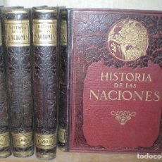 Libros antiguos: HISTORIA DE LAS NACIONES. CASA ED. SEGUÍ.4 VOLS. COMPLETA. NUMEROSAS ILUSTRACIONES Y MAPAS . Lote 92946995