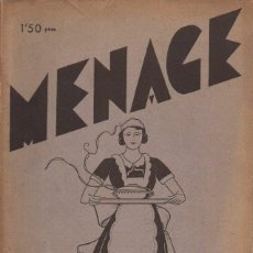 Libros antiguos: MENAGE Nº 26 MARZO 1933. Lote 93073460