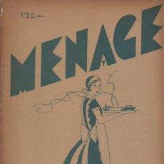 Libros antiguos: MENAGE Nº 27 ABRIL 1933. Lote 93074265