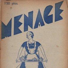 Libros antiguos: MENAGE Nº 32 SEPTIEMBRE 1933. Lote 93074680