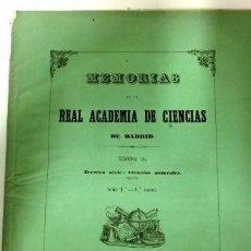 Libros antiguos: MEMORIAS DE LA REAL ACADEMIA DE CIENCIAS (1850). TOMO I.. Lote 93153165