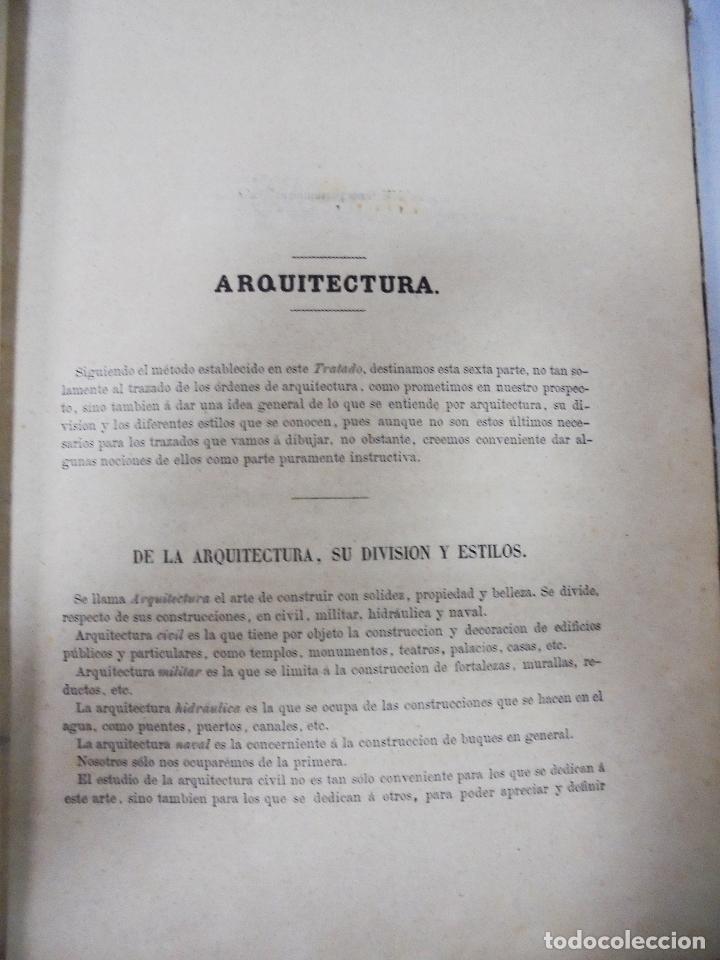 Libros antiguos: TRATADO TEÓRICO Y PRÁCTICO DE DIBUJO CON APLICACIONES A LAS ARTES Y A LA INDUSTRIA. M. BORRELL. 1869 - Foto 5 - 93252280