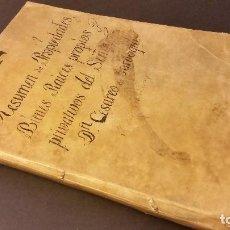 Libros antiguos: 1800 - MANUSCRITO: RESUMEN DE LAS PROPIEDADES BIENES DE D. CESAREO DE GARDAQUI - ZAMORA, VALENCIA. Lote 93350480