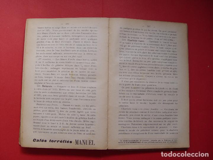 Libros antiguos: G. Hayward: MANUEL DE CUISINE (Payot, 1913) Cocina ¡ORIGINAL! ¡Coleccionista! - Foto 7 - 93390915