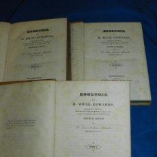 (MF) D JUAN ANTONIO MONEDERO - ZOOLOGIA - BOTANICA - MINERALOGIA POR M MILNE-EDWARDS 1844 COMPLETA