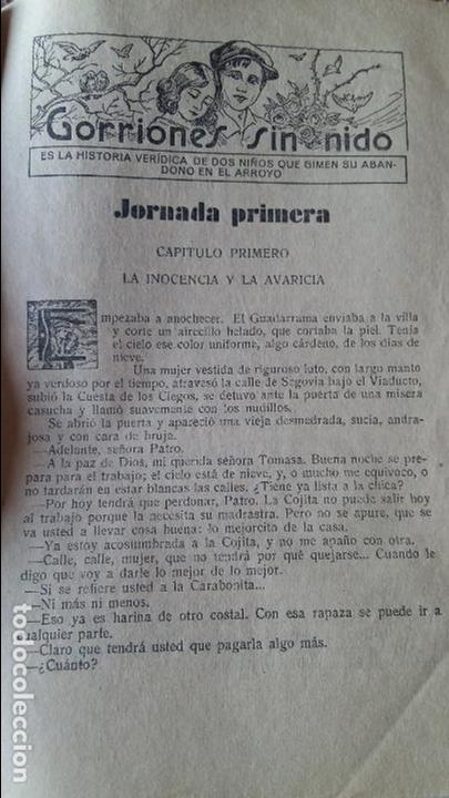 efb17c59a5107c Libros antiguos: GORRIONES SIN NIDO POR MARIO D'ANCONA. PUBLICACION SEMANAL  25 MARZO