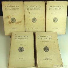 Libros antiguos: JOCHS FLORALS DE BARCELONA. 5 TOMOS. VARIOS AUTORES. ESTAMPA LA RENAIXENSA. S/F.. Lote 93587795