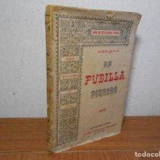 Livros antigos: LA PUBILLA FERRARO, (MARIA MENDOZA DE VIVES), BIBLIOTECA PARA TODOS ED. MANERO 1887. Lote 93650645