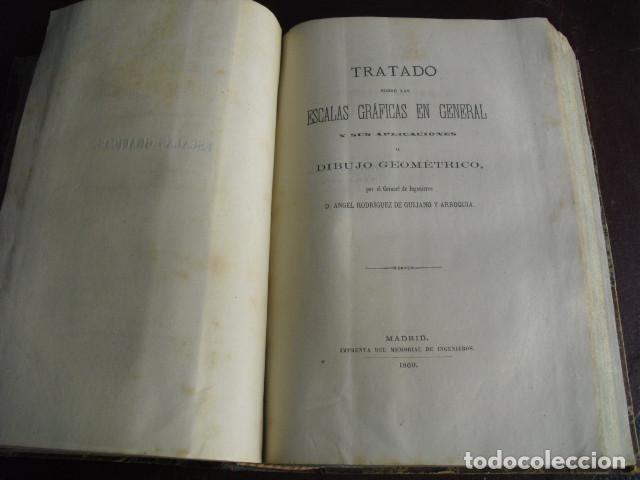 1869 TRATADO SOBRE LAS ESCALAS GRAFICAS EN GENERAL 38 LÁMINAS DESPLEGABLES (Libros Antiguos, Raros y Curiosos - Ciencias, Manuales y Oficios - Otros)
