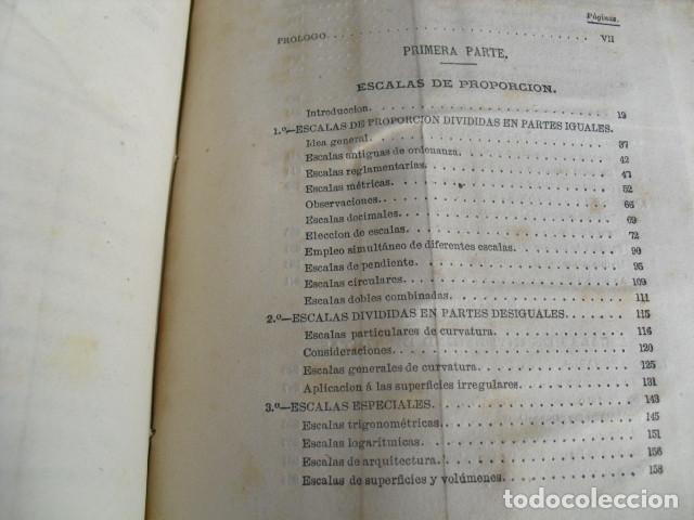 Libros antiguos: 1869 TRATADO SOBRE LAS ESCALAS GRAFICAS EN GENERAL 38 LÁMINAS DESPLEGABLES - Foto 2 - 93697625