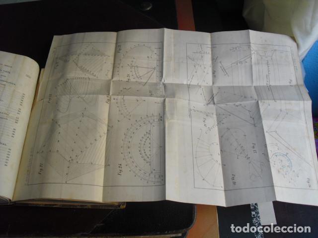 Libros antiguos: 1869 TRATADO SOBRE LAS ESCALAS GRAFICAS EN GENERAL 38 LÁMINAS DESPLEGABLES - Foto 4 - 93697625
