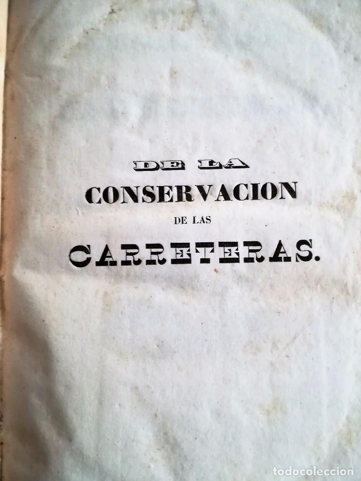Libros antiguos: DE LA CONSERVACIÓN DE LAS CARRETERAS. 1841. - Foto 2 - 93710285