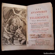 Libros antiguos: LES AVENTURES DE TELEMAQUE, 1740, FRANCOIS DE SALIGNAC, TOMO I, PARIS. Lote 60840703