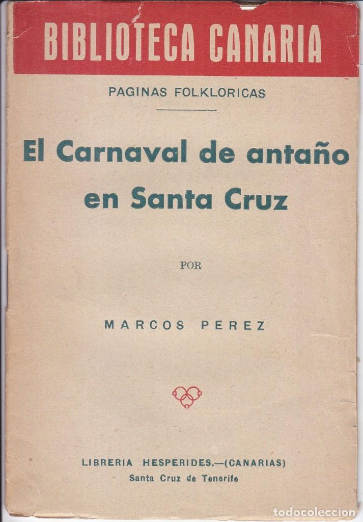 biblioteca canaria: marcos pérez: el carnaval d - Comprar en ...