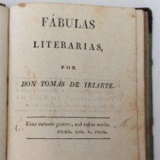 Libros antiguos: LIBRO. FÁBULAS LITERARIAS POR DON TOMÁS DE IRIARTE. IMPRENTA DE ILDEFONSO MOMPIE. 1817. VALENCIA.. Lote 93962320