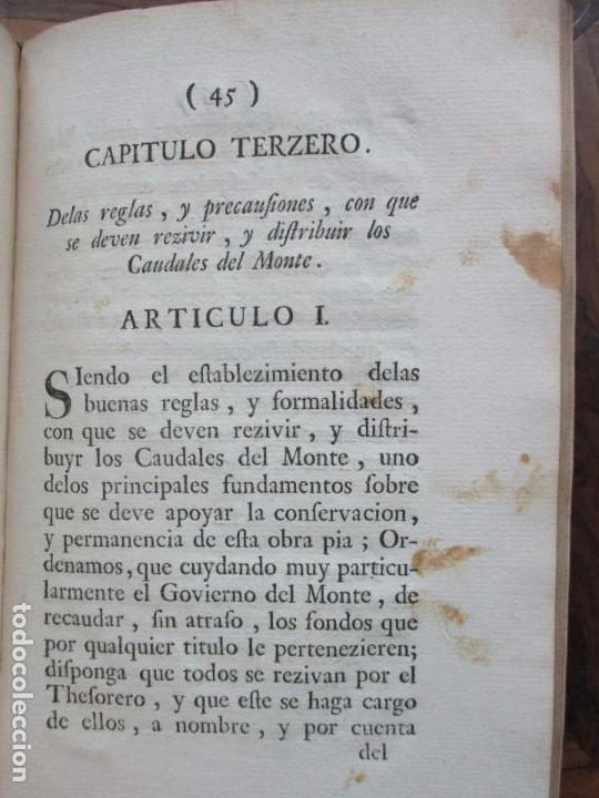 Libros antiguos: REGLAMENTO DE LA FUNDACION, Y ESTABLEZIMIENTO DEL PIO MONTE,..[REINO DE LAS DOS SICILIAS].1753 - Foto 7 - 93999445