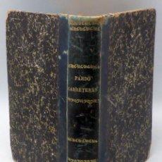 Libros antiguos: CARRETERAS MANUEL PARDO IMPRENTA MANUEL TELLO 1892 INGENIERO CAMINOS CANALES Y PUERTOS. Lote 94025990
