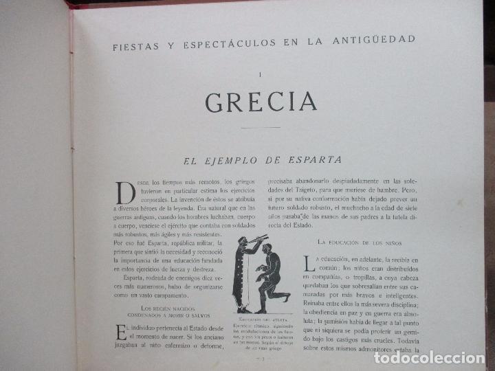 Libros antiguos: FIESTAS Y ESPECTACULOS EN LA ANTIGÜEDAD. CARLOS RIBA. JUAN LAGUÍA. ILUSTR. APA. MUNTAÑOLA, 1920. - Foto 3 - 94042295