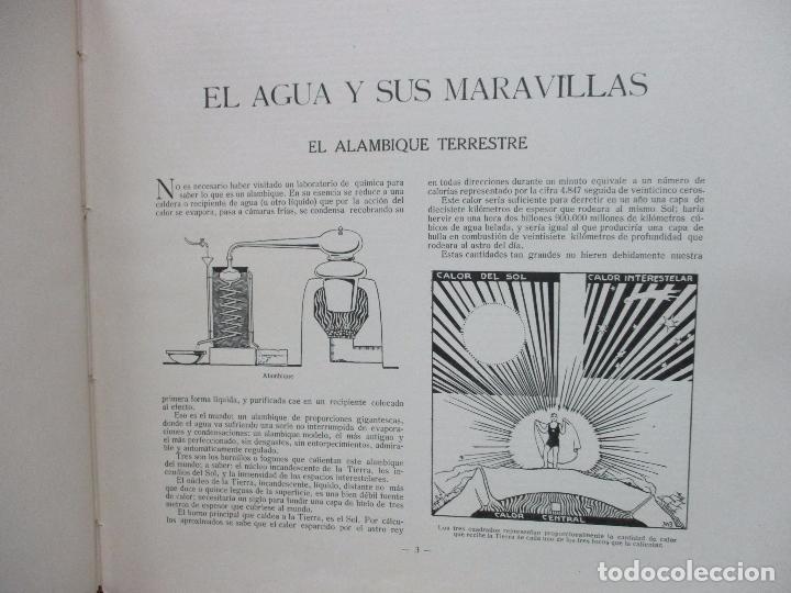 Libros antiguos: EL AGUA Y SUS MARAVILLAS. JAVIER OLÓNDRIZ. ILUSTR. JOAN D'IVORI. MUNTAÑOLA. 1920 - Foto 4 - 94056115