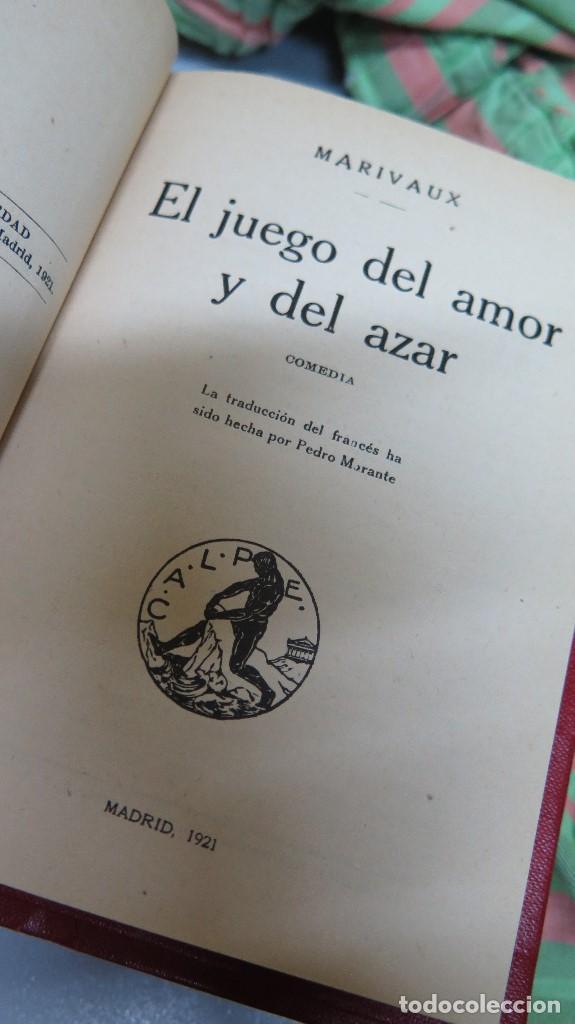 Libros antiguos: 1921.- EL JUEGO DEL AMOR Y DEL AZAR. DON JUAN O EL CONVIDADO DE PIEDRA. MARIVAUX. MOLIÈRE - Foto 2 - 94182015