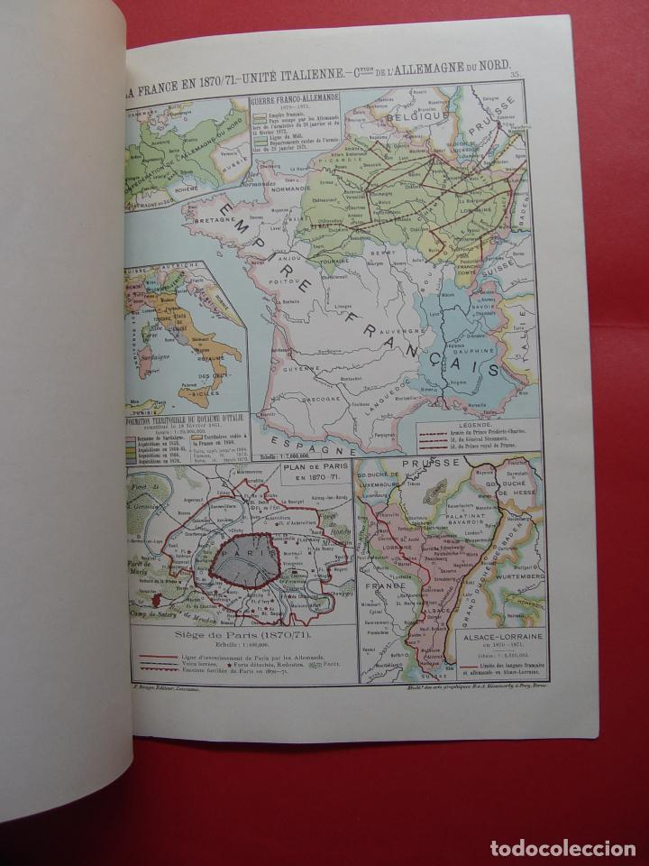 Libros antiguos: ATLAS GEOGRAPHIE HISTORIQUE (Poirier, 1906) Historia Moderna ¡ORIGINAL! ¡RARO! - Foto 9 - 94193730