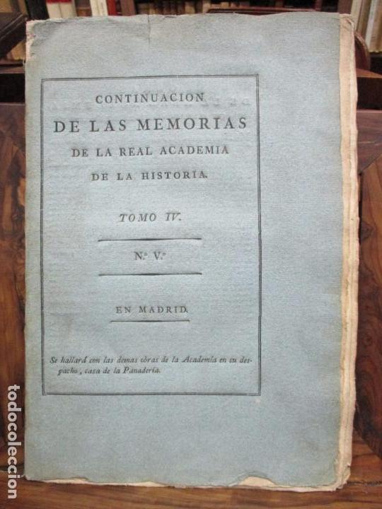 Libros antiguos: IMPUGNACIÓN AL PAPEL QUE CON TÍTULO DE MUNDA Y CÉRTIMA..(MEMORIAS DE LA REAL ACADEMIA DE LA Hª) 1802 - Foto 2 - 94249195