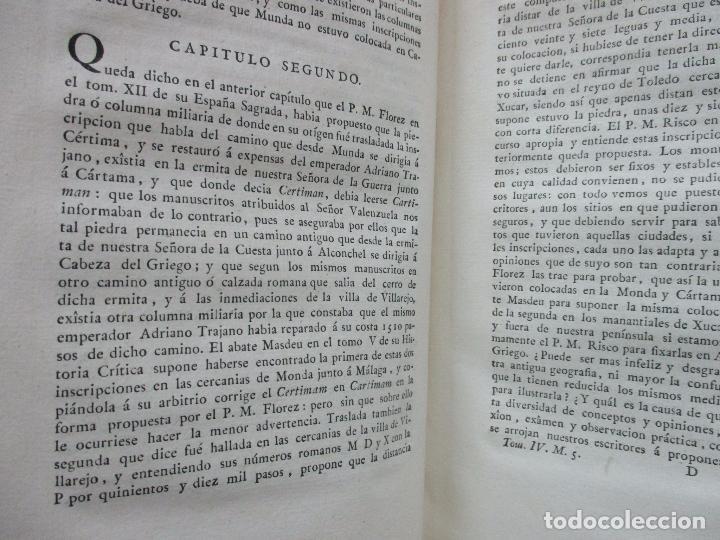 Libros antiguos: IMPUGNACIÓN AL PAPEL QUE CON TÍTULO DE MUNDA Y CÉRTIMA..(MEMORIAS DE LA REAL ACADEMIA DE LA Hª) 1802 - Foto 4 - 94249195