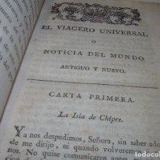 Libros antiguos: LIBRO TAPAS DE PIEL.....EL VIAGERO UNIVERSAL.. Lote 94250945