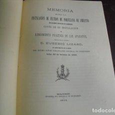 Libros antiguos: 1904 INSTALACIÓN DE FILTROS DE PORCELANA DE AMIANTO EN EDIFICIOS DE ZARAGOZA E. LIZASO. Lote 94367062