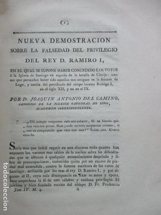 NUEVA DEMOSTRACION SOBRE LA FALSEDAD DEL PRIVILEGIO DEL REY D. RAMIRO I. C. 1800. (Libros Antiguos, Raros y Curiosos - Historia - Otros)