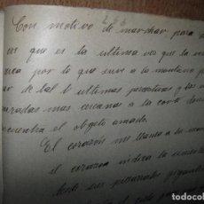 Libros antiguos: ANTIGUO MANUSCRITO NARRATIVO CON MOTIVO DE MARCHAR PARA SEVILLA 26 PGS. Lote 94421542